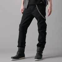 EDWIN 大尺碼 保溫 直筒牛仔褲 黑色 零碼