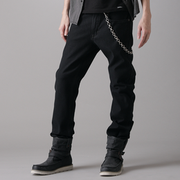 EDWIN PREMIUM 保溫 直筒牛仔褲 男款 黑色 STRAIGHT WARM PANTS