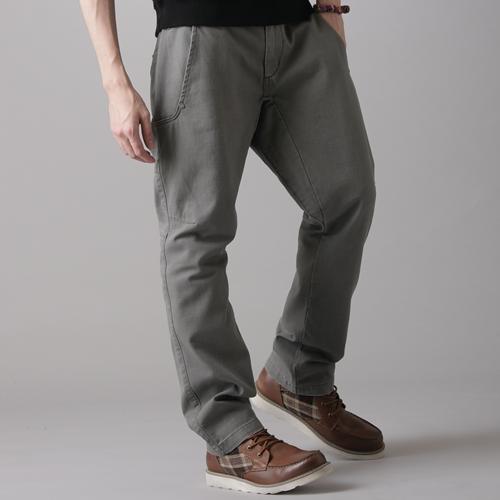 【2件組福袋。1599元↘】EDWIN 多口袋休閒長褲-男款 灰綠色 0