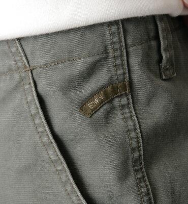 【2件組福袋。1599元↘】EDWIN 馬蹄配布基本款長褲-男款 灰綠色 2