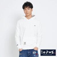 EDOKATSU江戶勝 小家徽 厚連帽T恤-男款 米白-EDWIN-潮流男裝