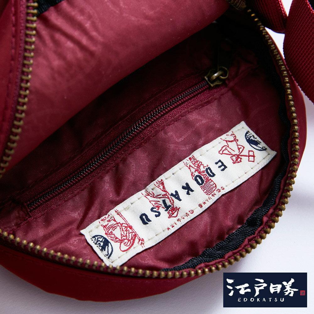 新品↘EDOKATSU江戶勝 限量富士山繡海浪 小側背包-中性款 紅色 6