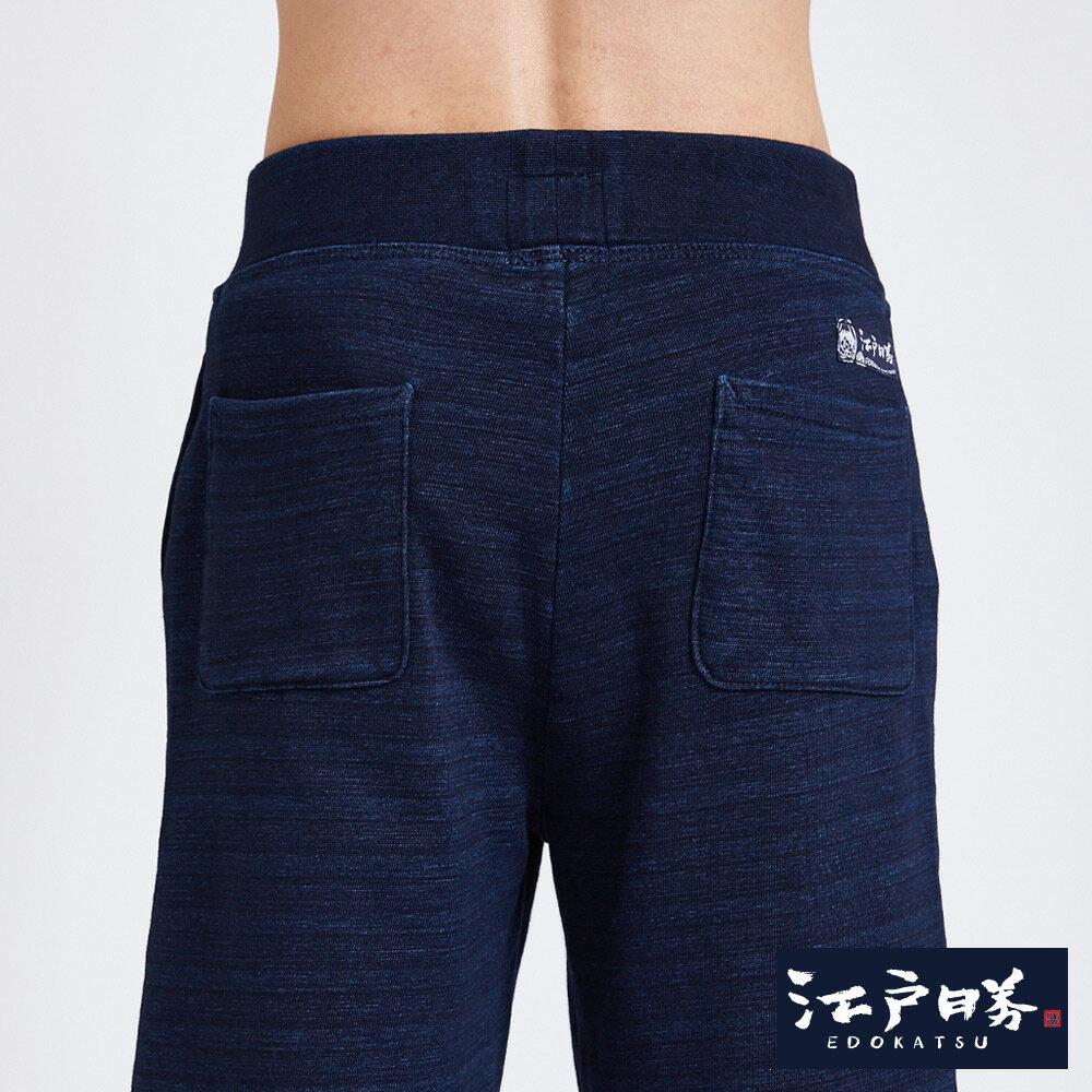 EDOKATSU江戶勝 INDIGO繡花抽繩 棉質短褲-男款 酵洗藍 SHORTS 6