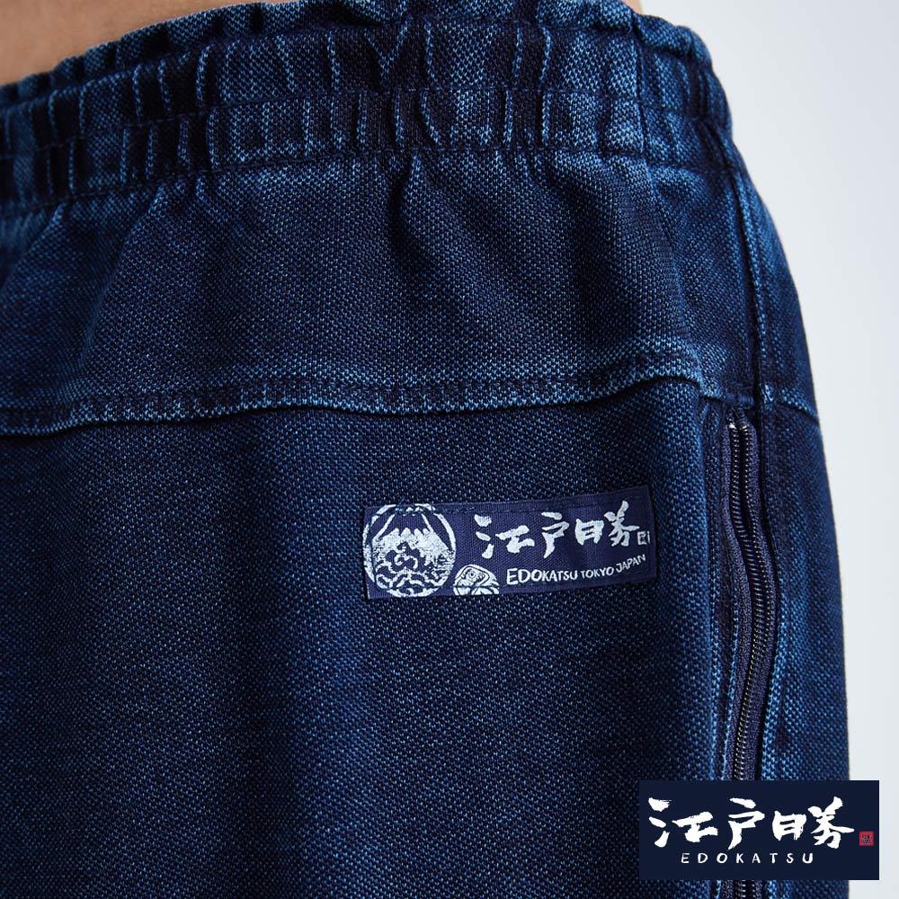 EDOKATSU江戶勝 INDIGO印花 七分牛仔落檔褲-男款 石洗藍 CROPPED CAPRI PANTS 9