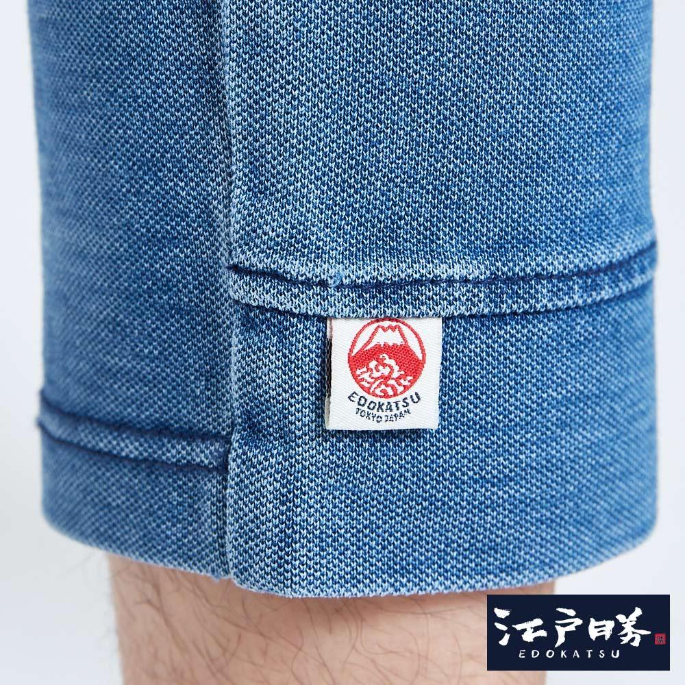 EDOKATSU江戶勝 INDIGO印花 七分牛仔落檔褲-男款 漂淺藍 CROPPED CAPRI PANTS 8
