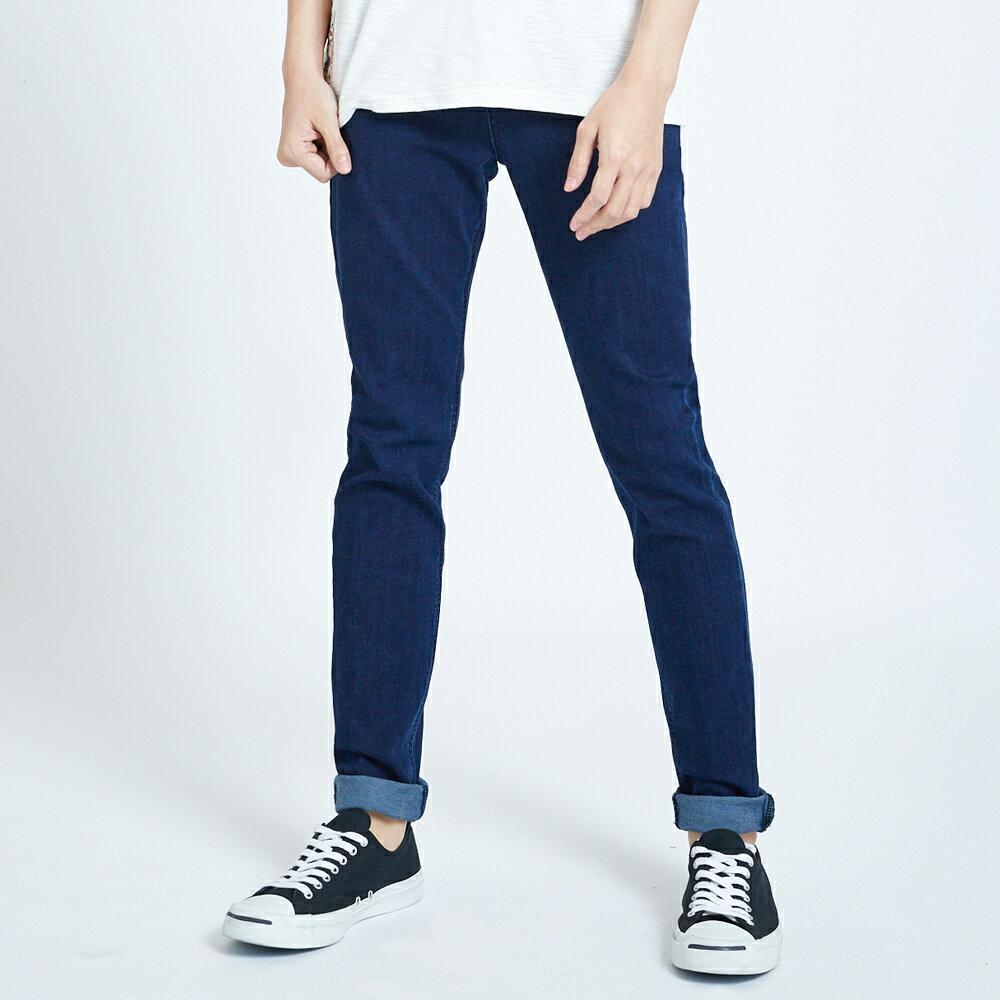 新品↘EDOKATSU江戶勝 基本窄直筒牛仔褲-男女款 酵洗藍 SKINNY