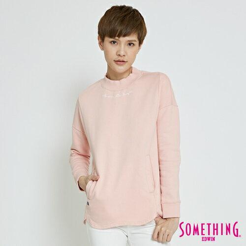 【5折優惠↘】SOMETHING簡約休閒立領口袋T恤-女款粉色【5月會員消費滿3000元再賺15%點數】