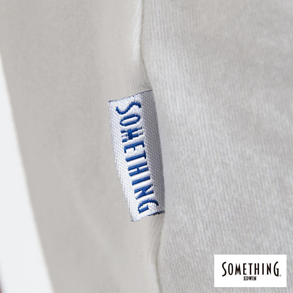SOMETHING 簡約刺繡 短袖T恤-女款 白色 6