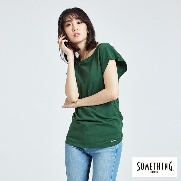 【新品上市↘】SOMETHING後綁結剪裁短袖T恤-女款草綠【5月會員消費滿3000元再賺15%點數】