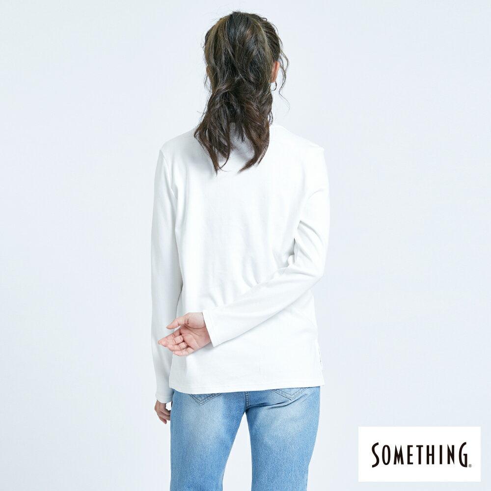 新品↘SOMETHING 馬毛LOGO 薄長袖T恤-女款 白色 2