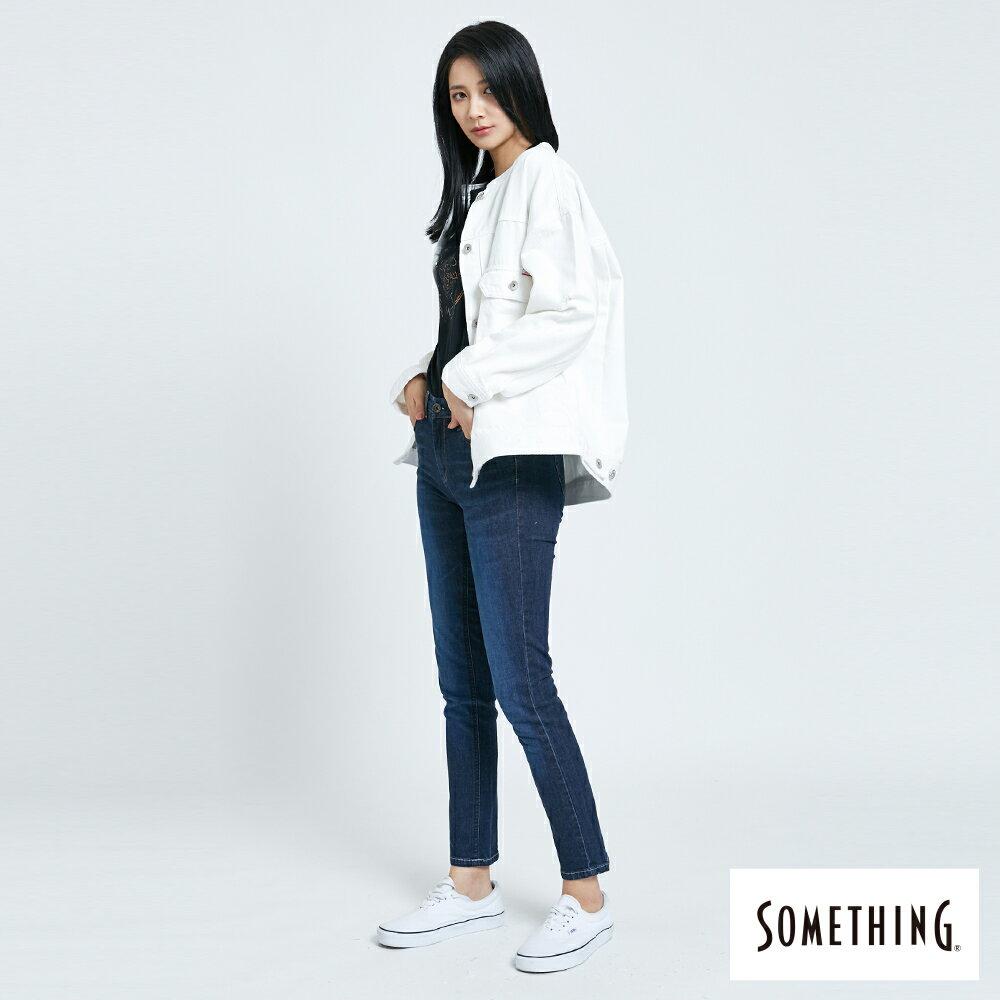 【APP領券9折】新品↘SOMETHING 寬版小領牛仔外套-女款 白色 6