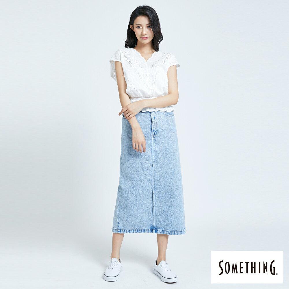 【領券9折】新品↘SOMETHING 蕾絲V領短袖上衣-女款 米白色 4