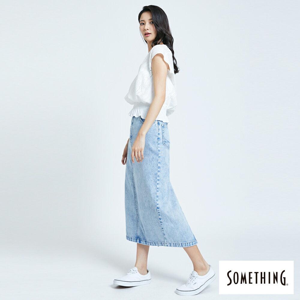 【領券9折】新品↘SOMETHING 蕾絲V領短袖上衣-女款 米白色 6