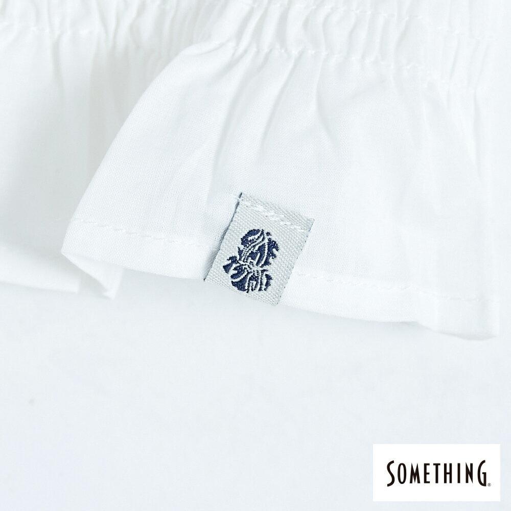 【領券9折】新品↘SOMETHING 蕾絲V領短袖上衣-女款 米白色 9