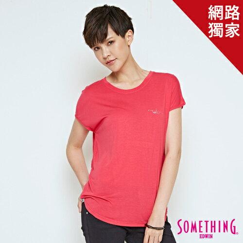 【490元優惠↘】SOMETHING俏皮點點剪接短袖T恤-女款桃紅【5月會員消費滿3000元再賺15%點數】