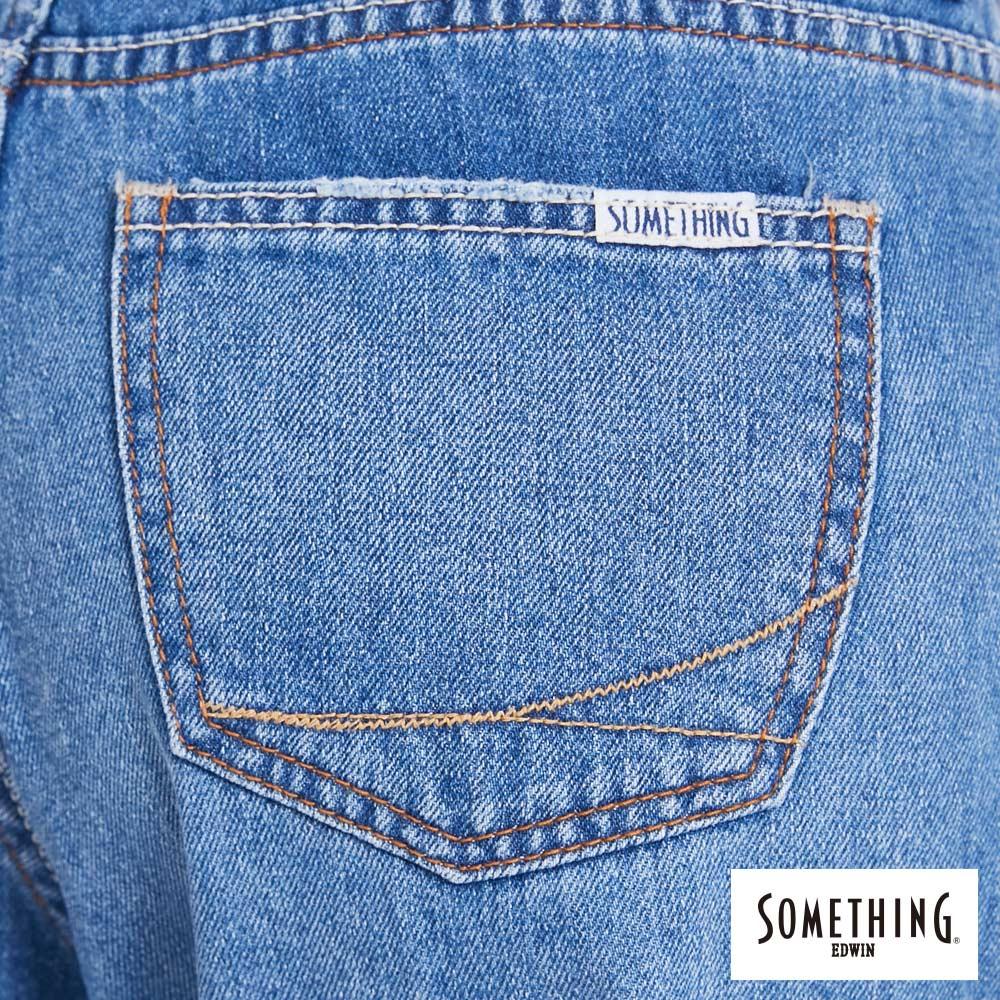 新品↘SOMETHING NEO FIT 手工破壞 寬直筒牛仔褲 (附綁帶) -女款 拔洗藍 WIDE LEG CULOTTES 9