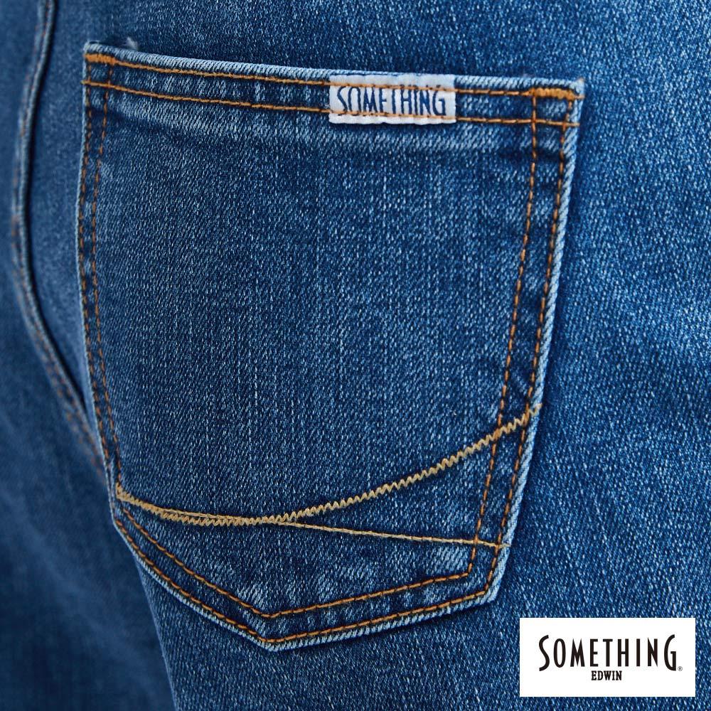 新品↘SOMETHING NEO FIT內貼袋剪接 牛仔寬褲 (附綁帶) -女款 石洗藍 WIDE LEG CULOTTES 8