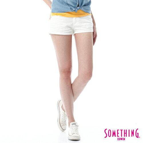 【5折優惠↘】SOMETHING NEO FIT 基本款夏日彩色短褲-女款 白色