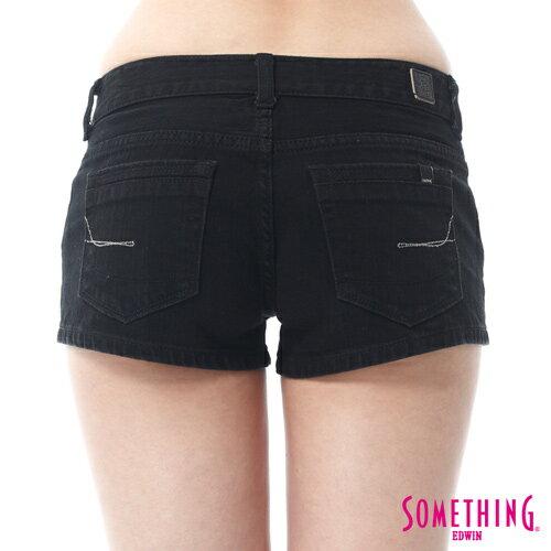 【換季最終波。任2件再9折優惠↘】SOMETHING NEO FIT 基本款夏日彩色短褲 -女款 黑色 5