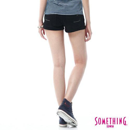 【換季最終波。任2件再9折優惠↘】SOMETHING NEO FIT 基本款夏日彩色短褲 -女款 黑色 1