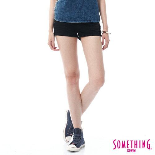 【5折優惠↘】SOMETHING NEO FIT 基本款夏日彩色短褲-女款 黑色