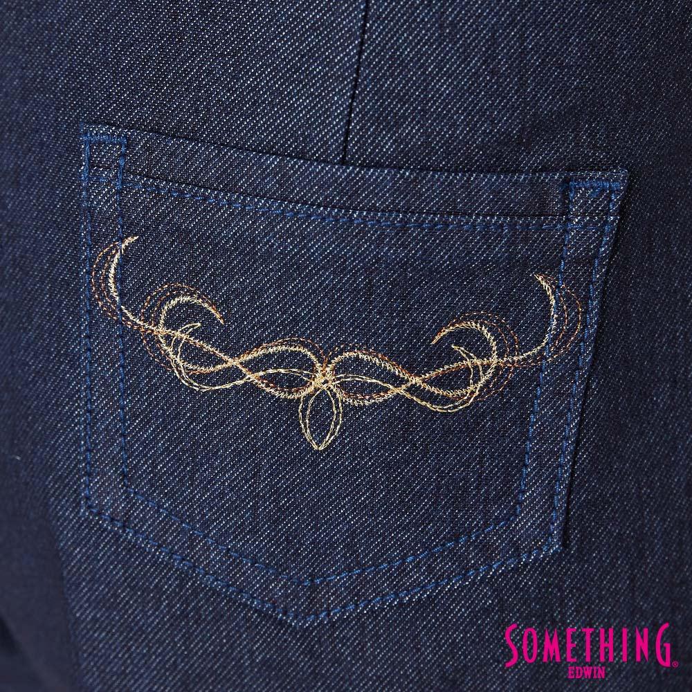 新品↘SOMETHING LADIVA 高腰打摺 牛仔短褲-女款 原藍色 SHORTS 7