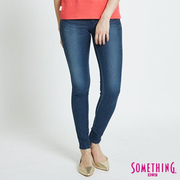 【新品上市↘】SOMETHINGLADIVA合身窄管牛仔褲-女款酵洗藍SILM【5月會員消費滿3000元再賺15%點數】