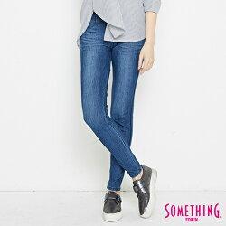 新品↘SOMETHING LADIVA合身 窄管牛仔褲-女款 拔洗藍 SILM