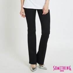 新品↘SOMETHING NEO FIT 基本合身 高腰靴型牛仔褲-女款 黑色 BOOTCUT