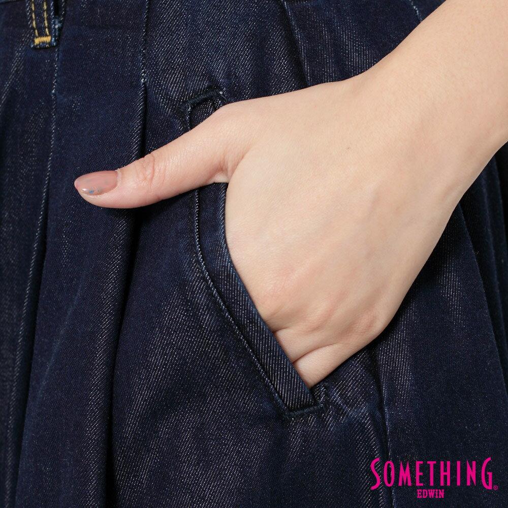 SOMETHING VIENUS 天絲Ⓡ混紡 牛仔長圓裙-女款 原藍色 8