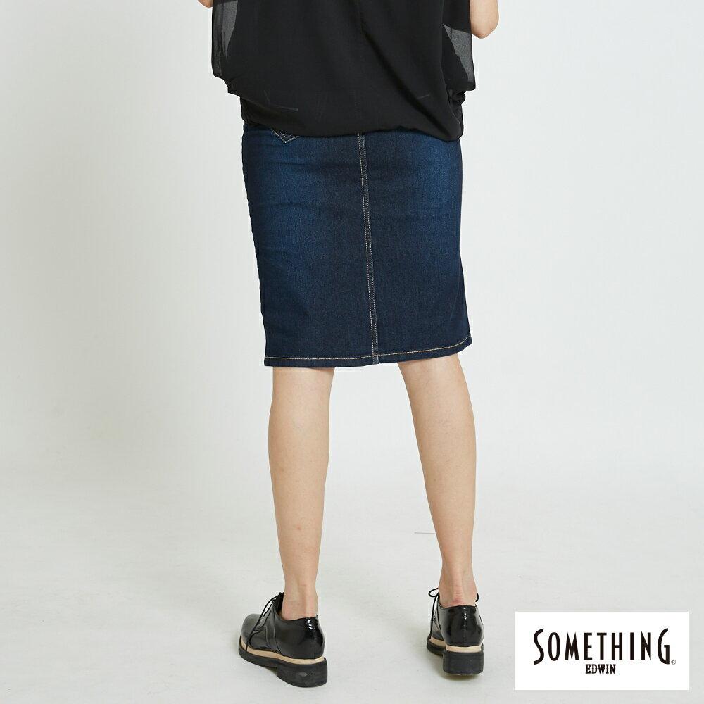 新品↘SOMETHING NEO FIT前開岔 丹寧窄裙 -女款 原藍磨 1