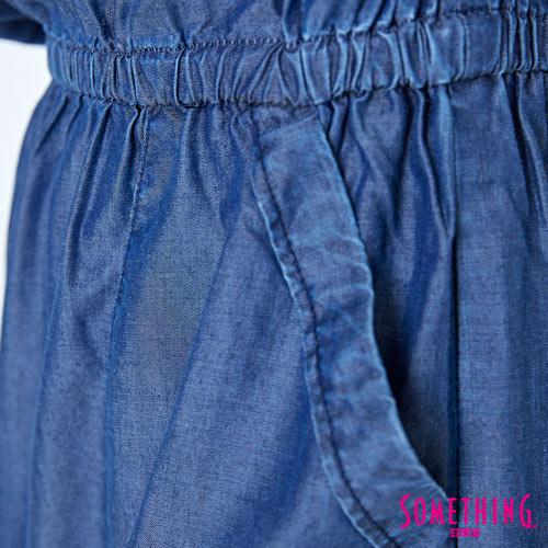 SOMETHING NEO FIT 天絲 細肩連身洋裝 -女款 原藍色 6