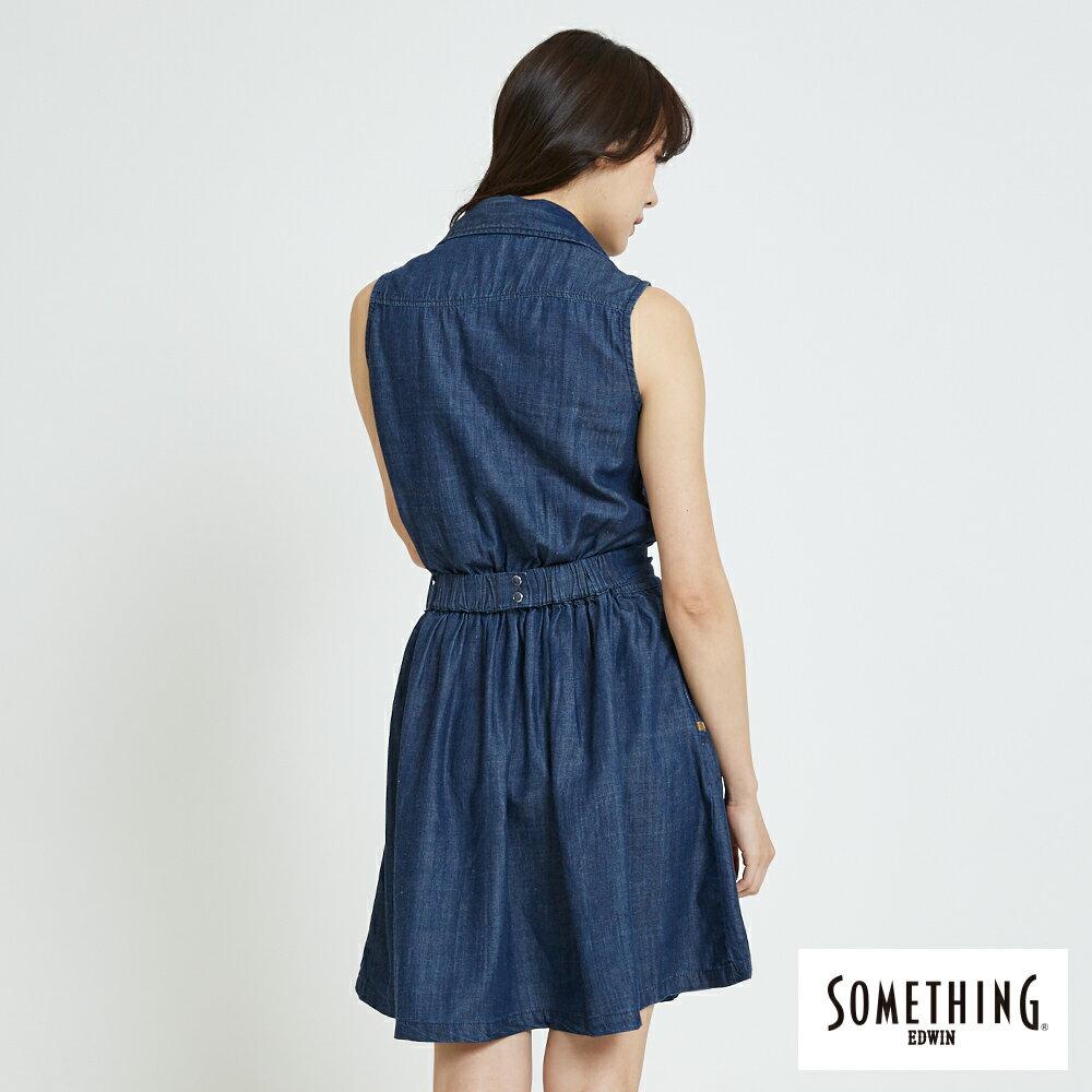 新品↘SOMETHING 氣質開襟 牛仔連身裙-女款 原藍色 1