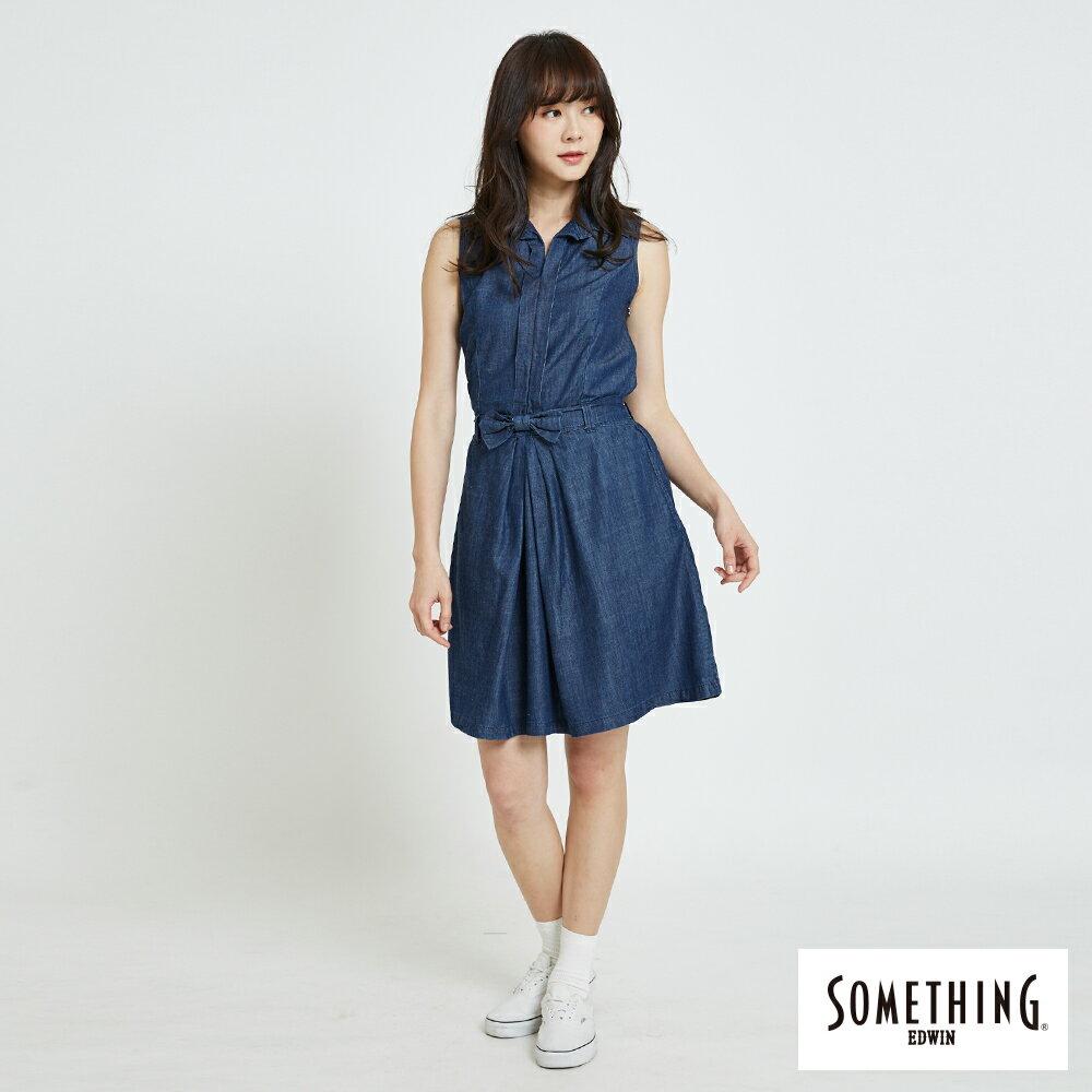 新品↘SOMETHING 氣質開襟 牛仔連身裙-女款 原藍色 4