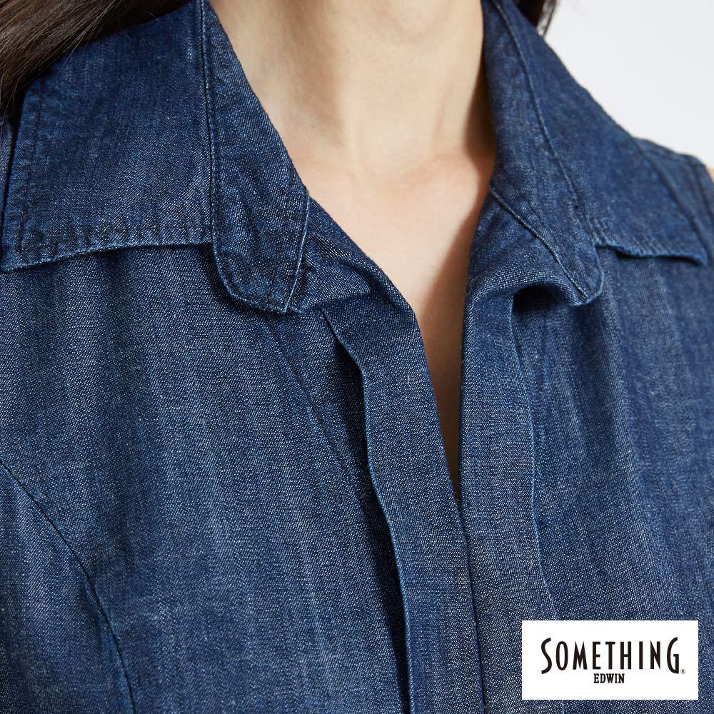 新品↘SOMETHING 氣質開襟 牛仔連身裙-女款 原藍色 5