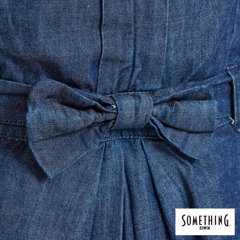 新品↘SOMETHING 氣質開襟 牛仔連身裙-女款 原藍色 6