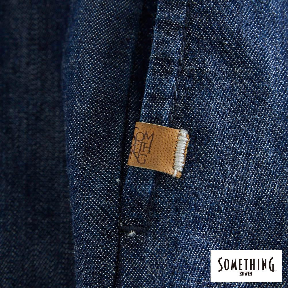 新品↘SOMETHING 氣質開襟 牛仔連身裙-女款 原藍色 8
