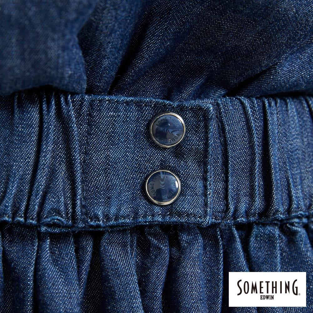 新品↘SOMETHING 氣質開襟 牛仔連身裙-女款 原藍色 9
