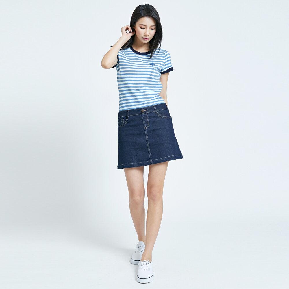 新品↘SOMETHING 異素材剪接 連身短裙-女款 漂淺藍 1