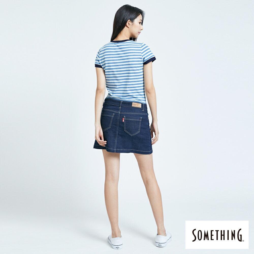 新品↘SOMETHING 異素材剪接 連身短裙-女款 漂淺藍 2