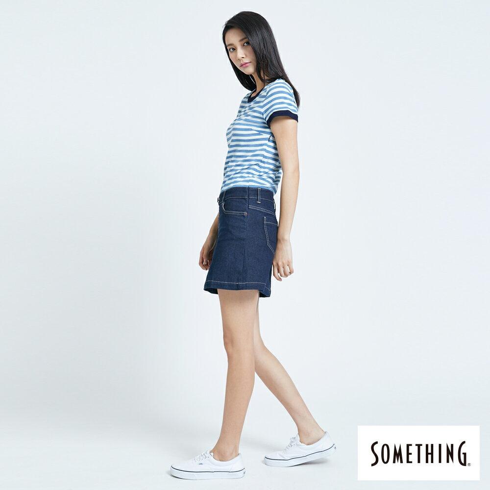 新品↘SOMETHING 異素材剪接 連身短裙-女款 漂淺藍 4