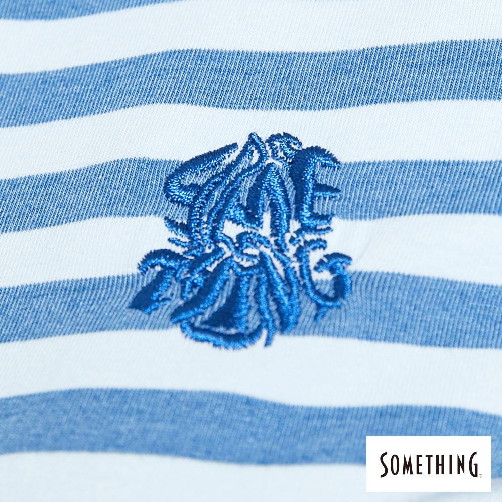 新品↘SOMETHING 異素材剪接 連身短裙-女款 漂淺藍 5