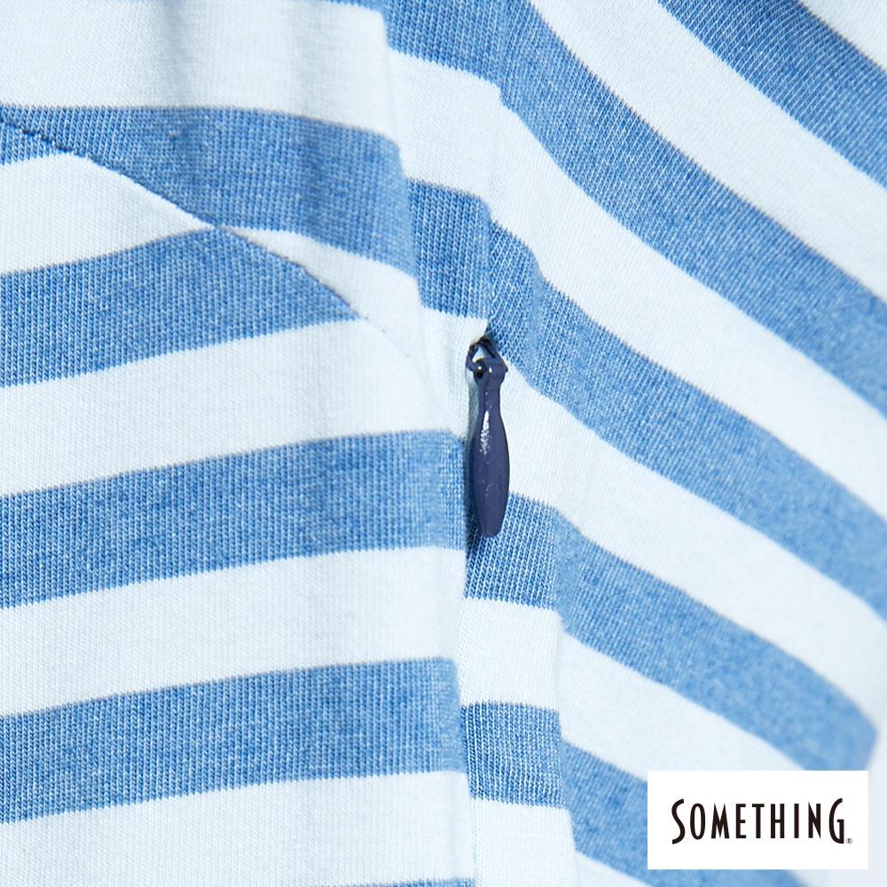 新品↘SOMETHING 異素材剪接 連身短裙-女款 漂淺藍 6