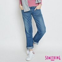 牛仔褲推薦到SOMETHING 舒適涼感小垮牛仔褲-女款 輕刷藍 TAPERED就在EDWIN推薦牛仔褲