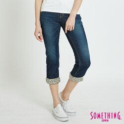 SOMETHING NEO FIT CROPPED 合身七分牛仔褲-女款 中古藍 CAPRI PANTS
