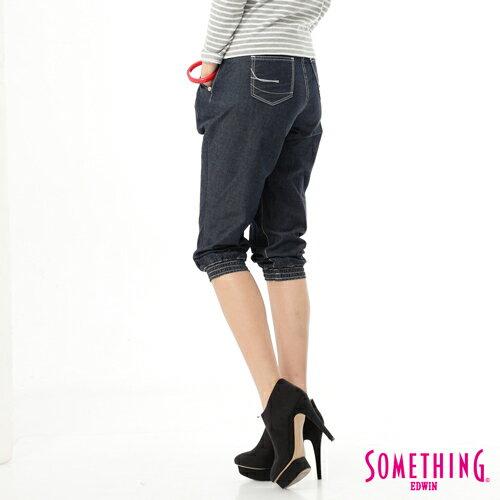 【1290元優惠↘】SOMETHING NEO FIT 縮口七分牛仔褲-女款 酵洗藍
