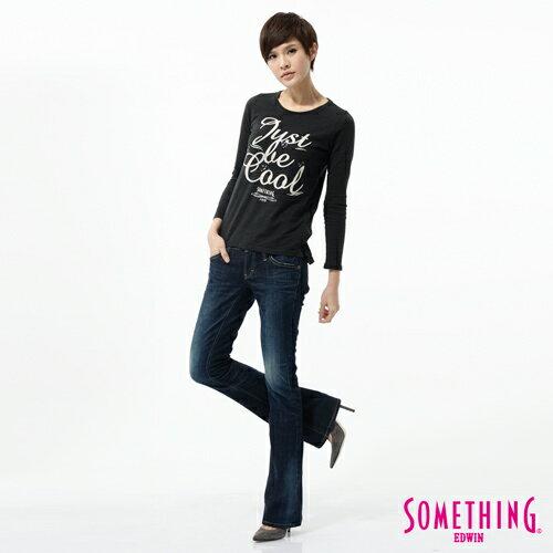 【1290元優惠↘】SOMETHING NEO FIT 低腰伸縮靴型牛仔褲-女款 原藍色 2