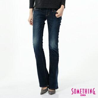 【SUPER SALE。790元均一價↘】SOMETHING NEO FIT 低腰伸縮靴型牛仔褲-女款 原藍色【單筆滿800輸入限量優惠券序號EDWIN100-1再折100↘】