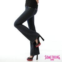 牛仔褲推薦到SOMETHING BODY FIRE 保暖植絨印花 靴型牛仔褲-女款 原藍磨就在EDWIN推薦牛仔褲