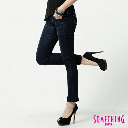 【990元優惠↘】SOMETHING STORY 3 塑腿超窄直筒褲-女款  原藍色